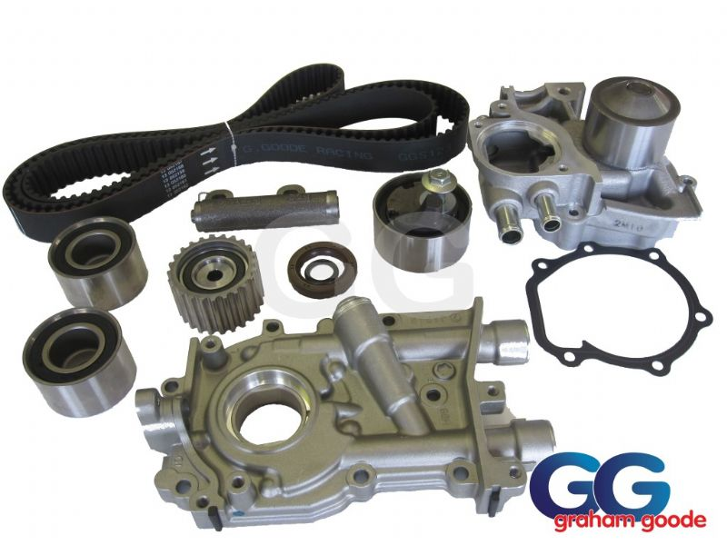 Impreza Turbo WRX STI >1996 Cam Timing Belt Kit inc Water Pump Modified Oil Pump Crank Oil Seal O Ring GGS123TBK12